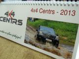 4×4 Centrs galda kalendārs 2013. gadam