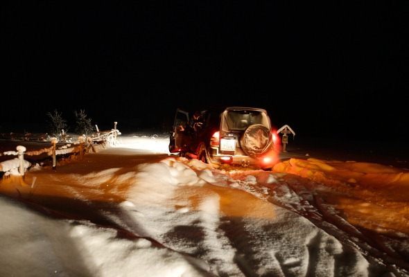 Pajero sniegā